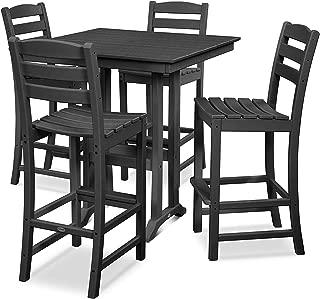 product image for La Casa Café 5-Piece Farmhouse Bar Set (Black)