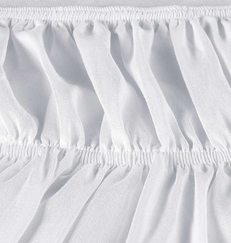 Utopia Bedding Twin Elastic Bed Ruffle Skirt White