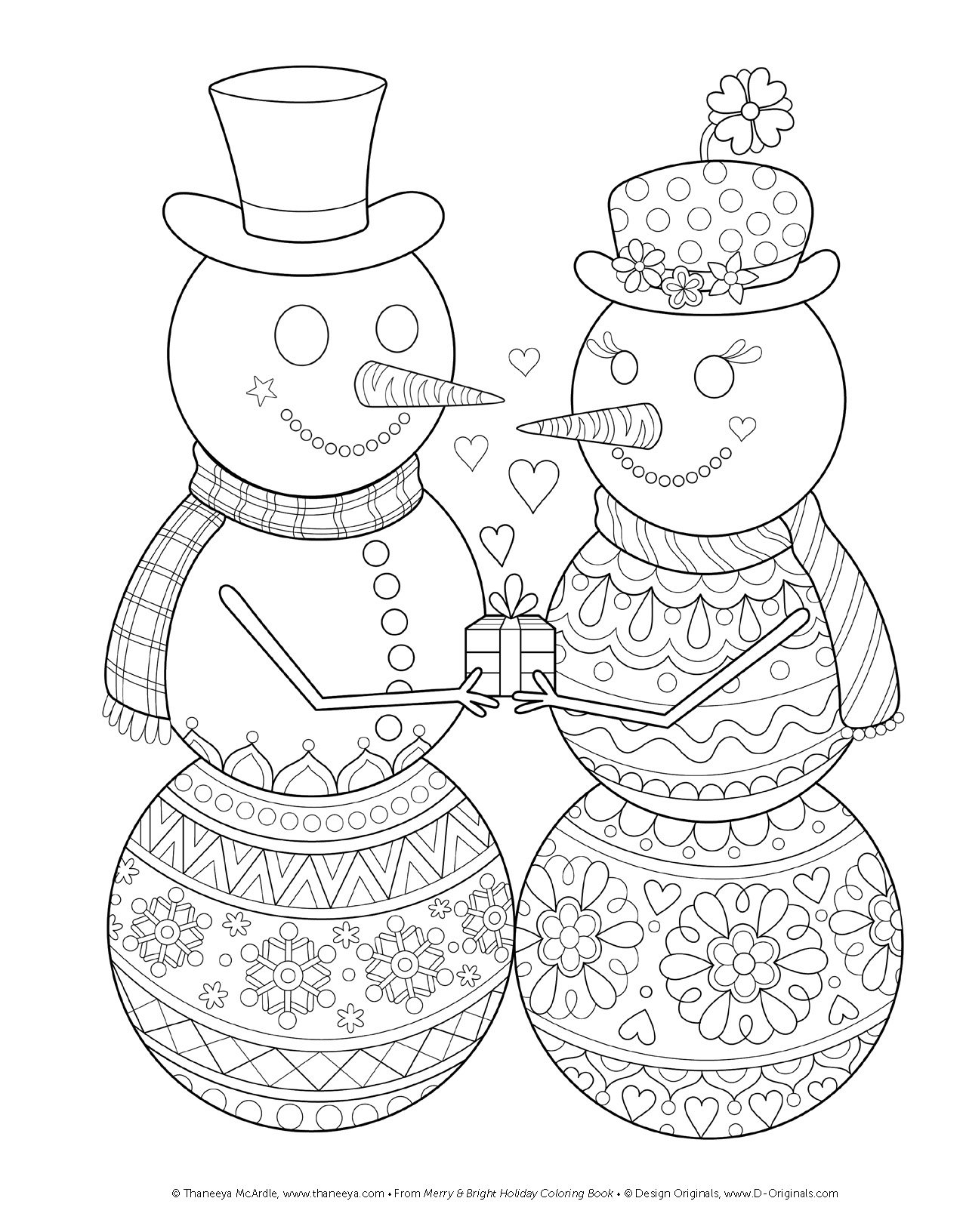 amazon com merry u0026 bright holiday coloring book design originals