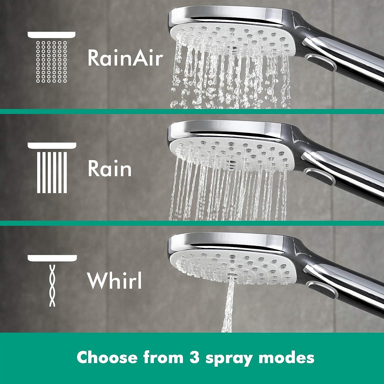 Cromo 4 tipos de chorro Hansgrohe 27127000 Raindance Select E 300 Columna de ducha