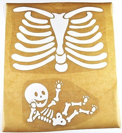 9d15febab1628 Pregnant Skeleton Costume Template & Homemade No-sew Toddler ...