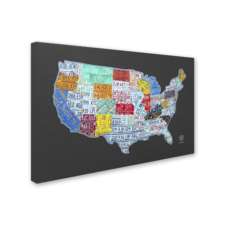 Amazon.com: Massive USA License Plate Map by Design Turnpike ...