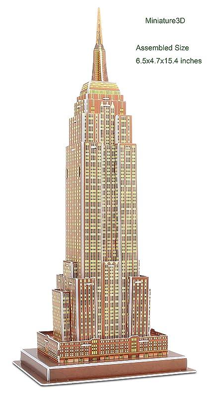 amazon com 3d puzzle empire state building miniature architecture