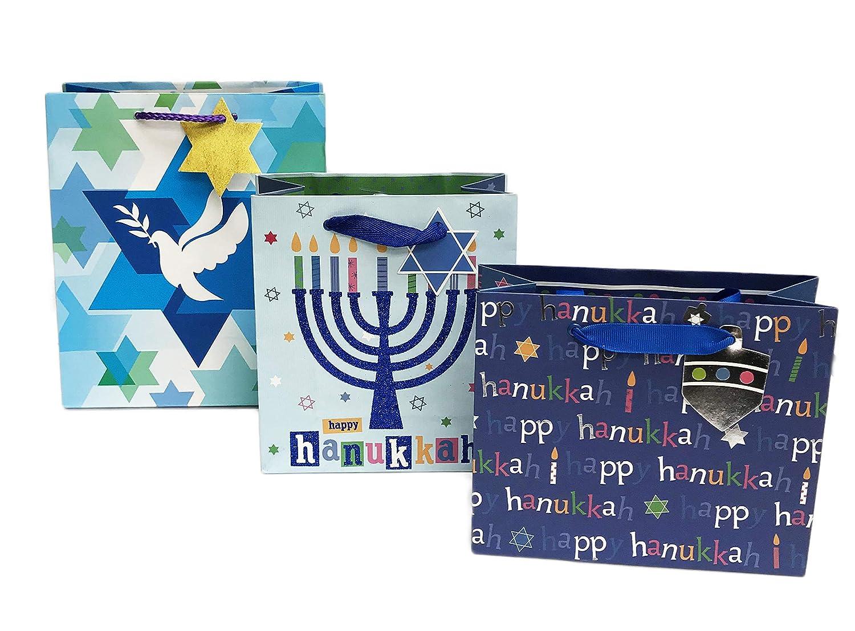 Amazon Happy Hanukkah Festive Holiday Bundle Of Three Gift Bags