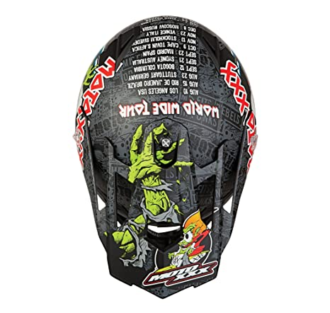 O Neal moto XXX World Tour todoterreno casco visera (negro/color rojo/