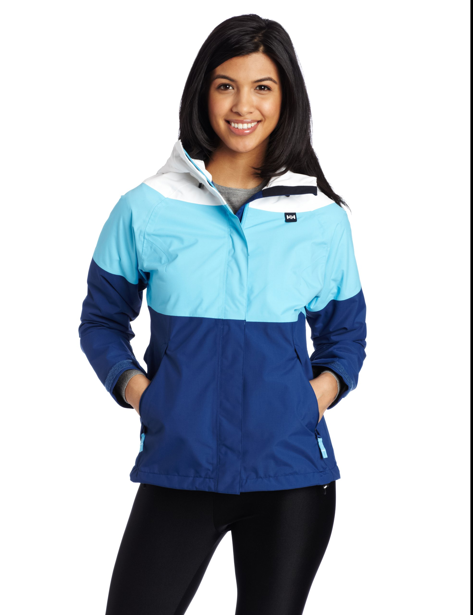 Helly Hansen Women's Vancouver Tricolor Jacket, Bright Sky, Large