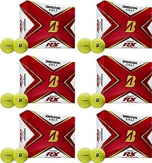 product image for Bridgestone Golf Tour B RX Reactive Urethane Distance Golf Balls, Yellow (6 Dozen)
