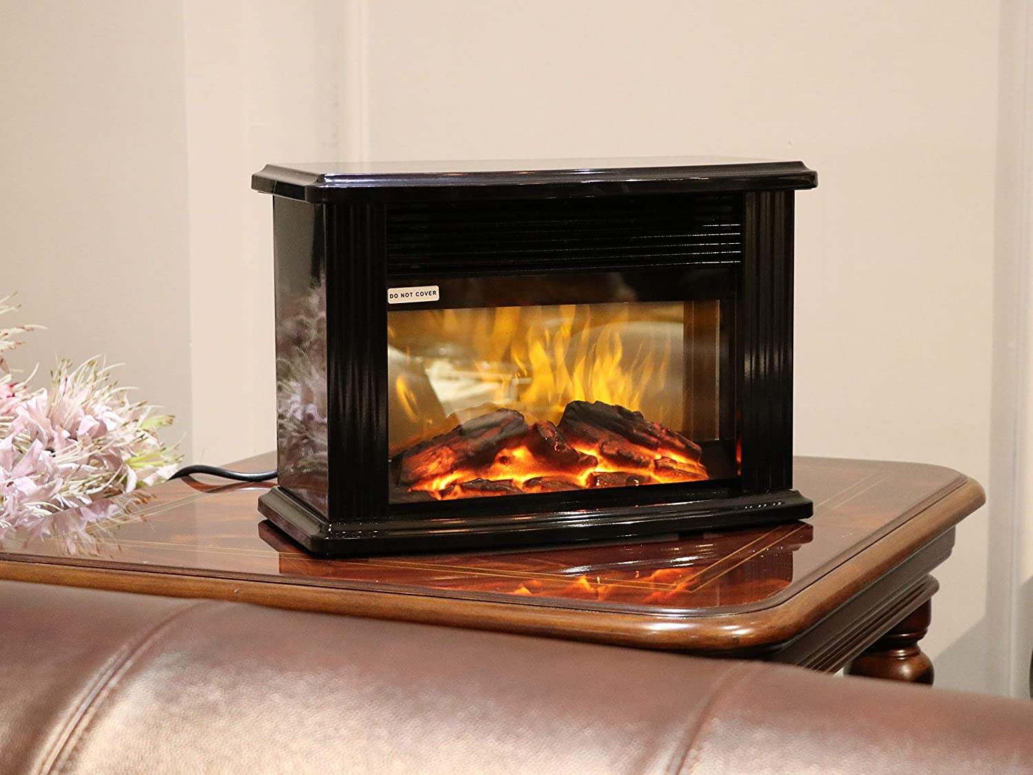 Warmtec 750W/1500W 14'' Mini Electric Fireplace Heater Tabletop Portable Room Space Heater