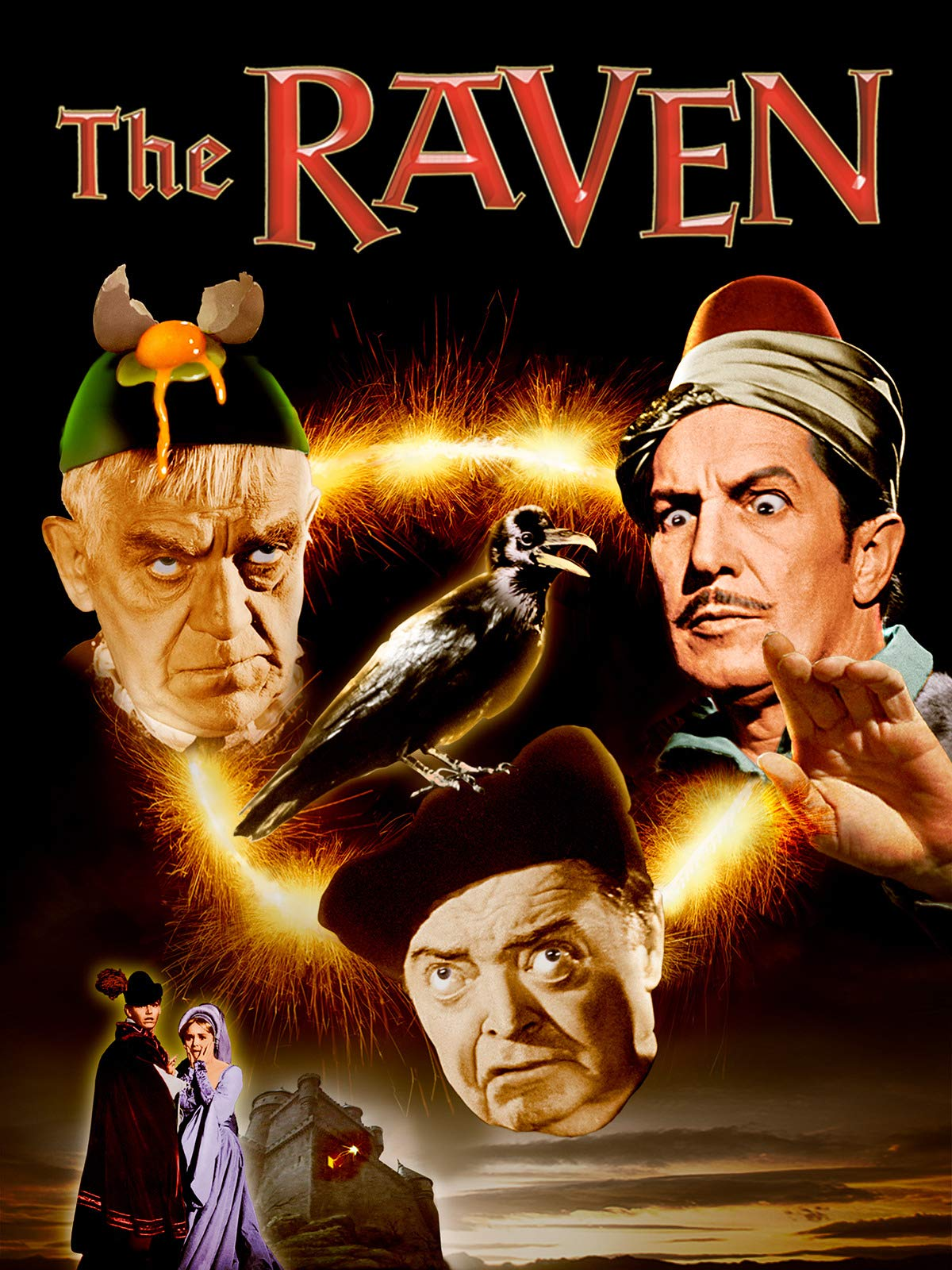 1963 Boris Karloff Vincent Price Jack Nicholson movie poster print The Raven