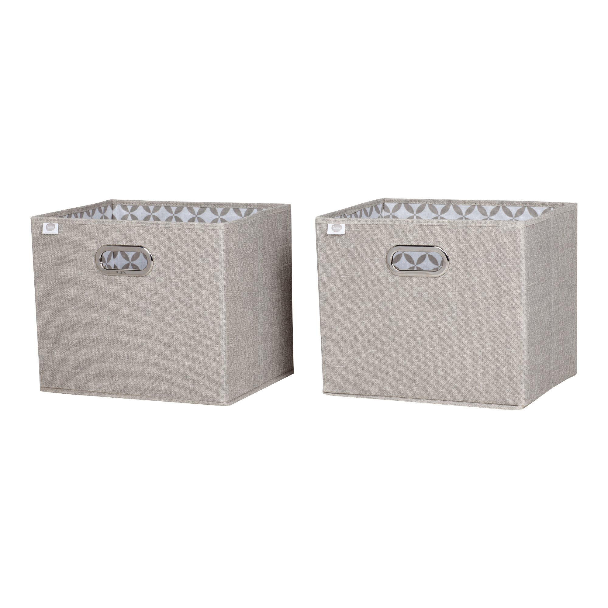 South Shore Storit Chambray Fabric Storage Baskets (2 Pack), Taupe by South Shore