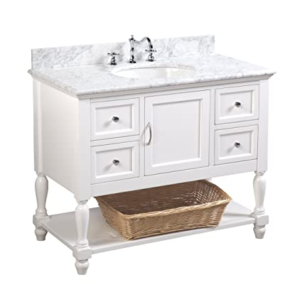 beverly 42 inch bathroom vanity carrara white includes authentic rh amazon com 42 inch white single sink bathroom vanity 42 inch white bathroom vanity base