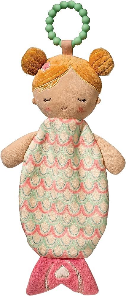 Douglas Baby Giraffe Ring Rattle Plush Baby Toy NEW Boy Girl