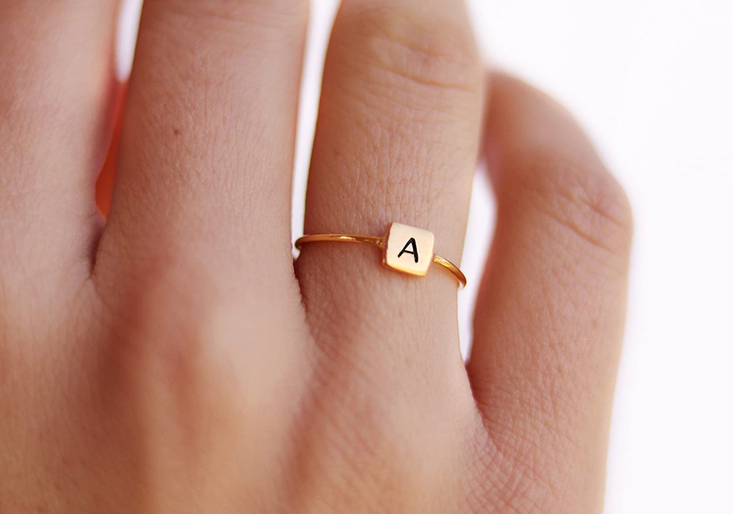 Personalized Ring Custom Name Ring Stacking Dainty Name Ring Initials Ring Personalized Rings Custom Perfect Gift