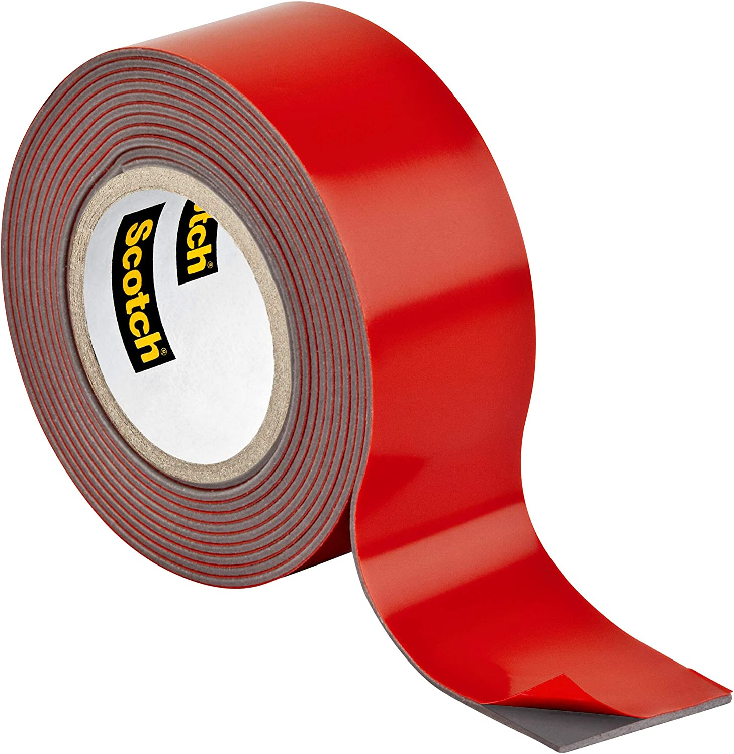 Scotch Outdoor Mounting Tape, 1-inch x 60-inches, Holds up to 15 pounds, Gray, 1-Roll (411H) - -