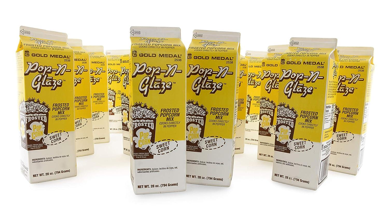 Gold Medal Sweet Corn Glaze Pop Frosted Popcorn Mix, 28 oz