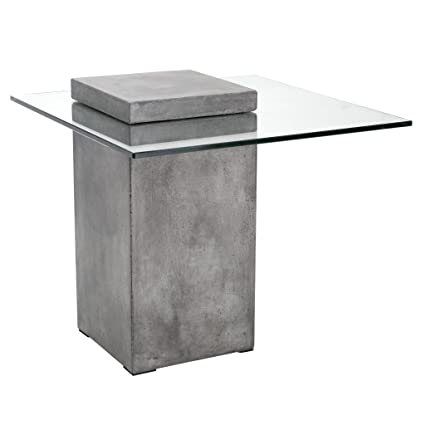 Amazoncom Sunpan Modern Grange End Table Anthracite Grey - Anthracite grey kitchen