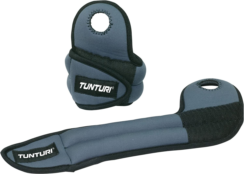 Tunturi Wrist Weights 2x 1kg Comfortable Soft Nylon Fitness Training New