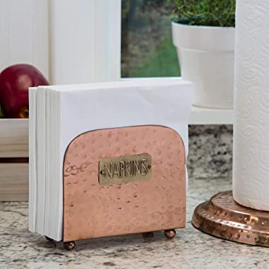 Copper Napkin Holder for Kitchen Tables and Counter Tops