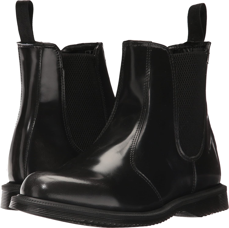 Dr. Martens Women's Flora Chelsea Boot B01NAYUQVS 7 F(M) UK  Black Silver arcadia