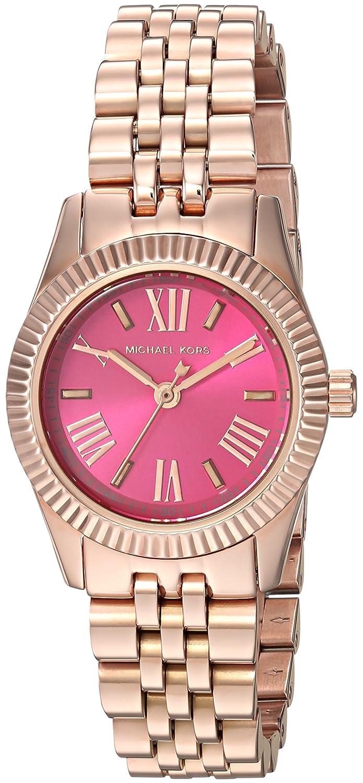 b709a966e31c Amazon.com  Michael Kors Lexington Petite Pink Dial Rose Gold-tone Ladies  Watch MK3285  Michael Kors  Watches