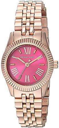 aafb05431494 Michael Kors Lexington Petite Pink Dial Rose Gold-tone Ladies Watch MK3285
