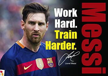 Lionel Messi Poster Motivational Inspirational Footballer Quotes Poster #  20   A4 Poster / Print
