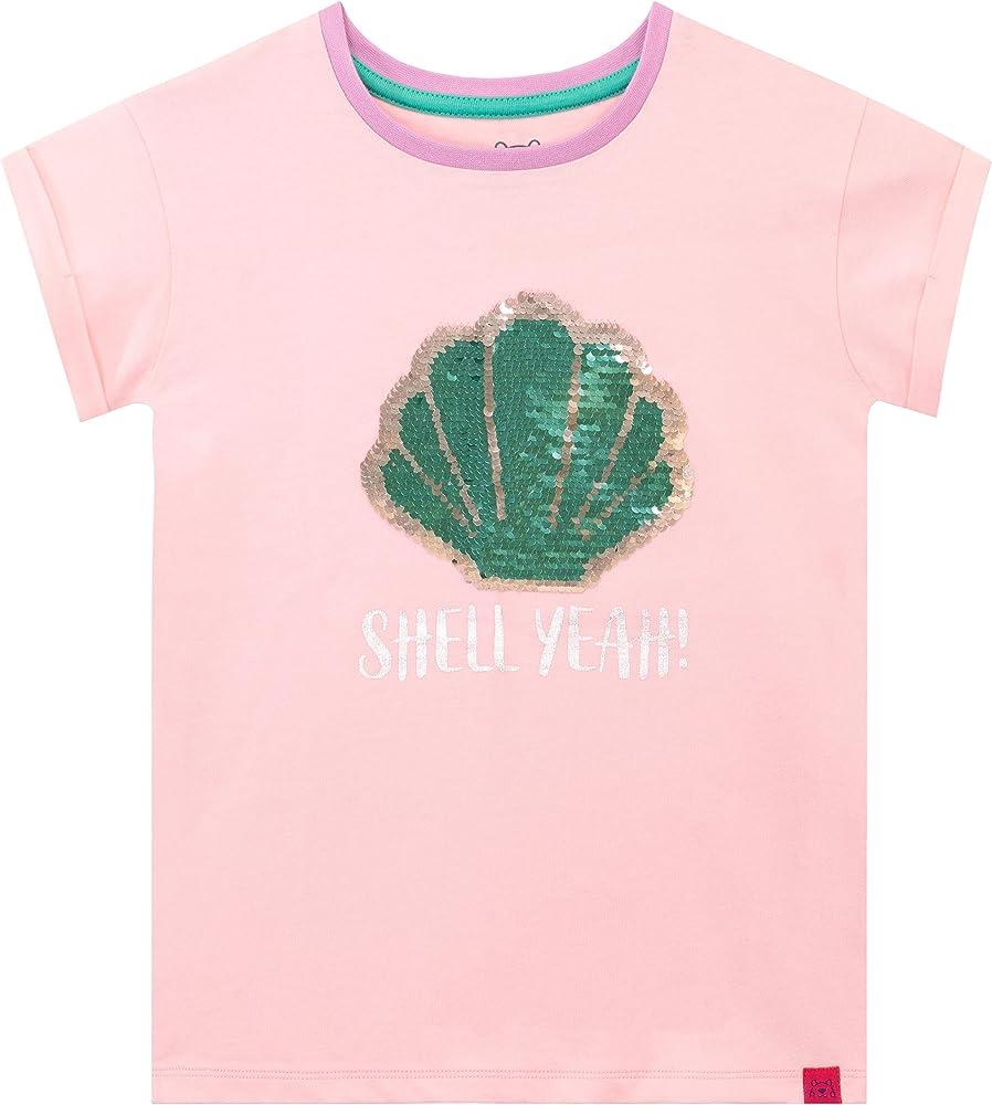 Harry Bear Camiseta de Manga Corta para niñas Shell Yeah Reversible Lentejuelas Rosa 3-4 Años: Amazon.es: Ropa y accesorios