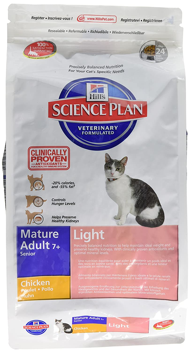 Hills Feline Mature Adult Light Comida para Gatos - 1500 gr: Amazon.es: Productos para mascotas