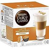 Nescafé Dolce Gusto Kaffeekapseln, Latte Macchiato Caramel, 48 Kapseln für 24 Getränke