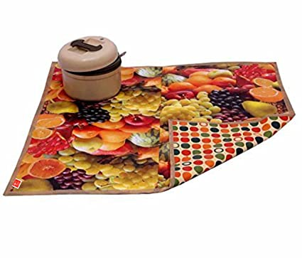 Comfort House Bed Server/Food Mat/Bedsheet Protector/Reversible in 3 Layered Heavy Material(Colour and Print Might Vary According to Availability)