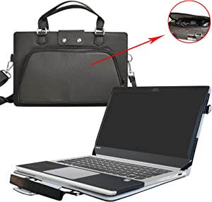 "Yoga 920 Case,2 in 1 Accurately Designed Protective PU Leather Cover + Portable Carrying Bag for 13.9"" Lenovo Yoga 920 920-13IKB Series Laptop(Not fit Yoga 910/900/720/710/700 Series),Black"