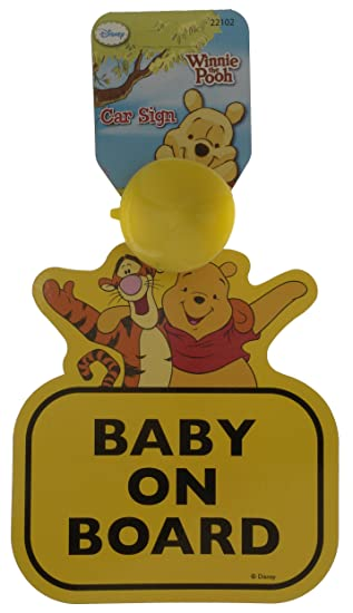 Winnie The Pooh Personalised Baby On Board Car Sign 1
