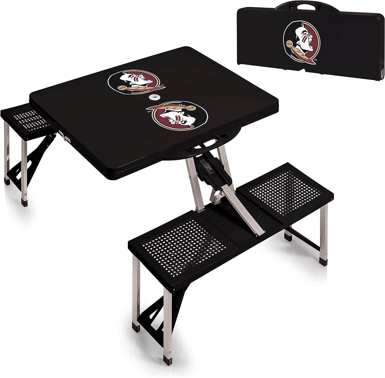 Black NCAA Folding Picnic Table