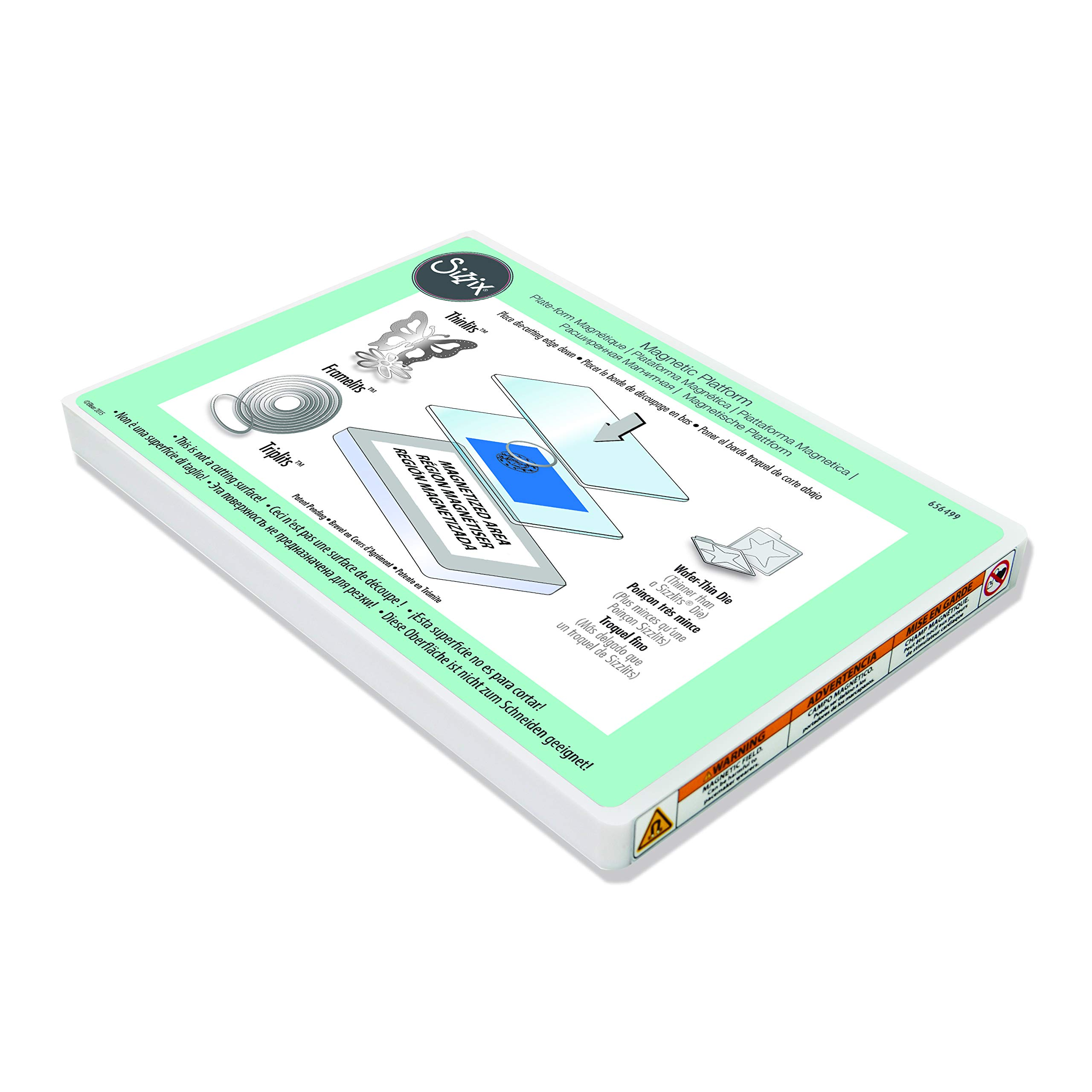 Sizzix, Multi Color, Magnetic Platform for Wafer-Thin Dies 656499, One Size