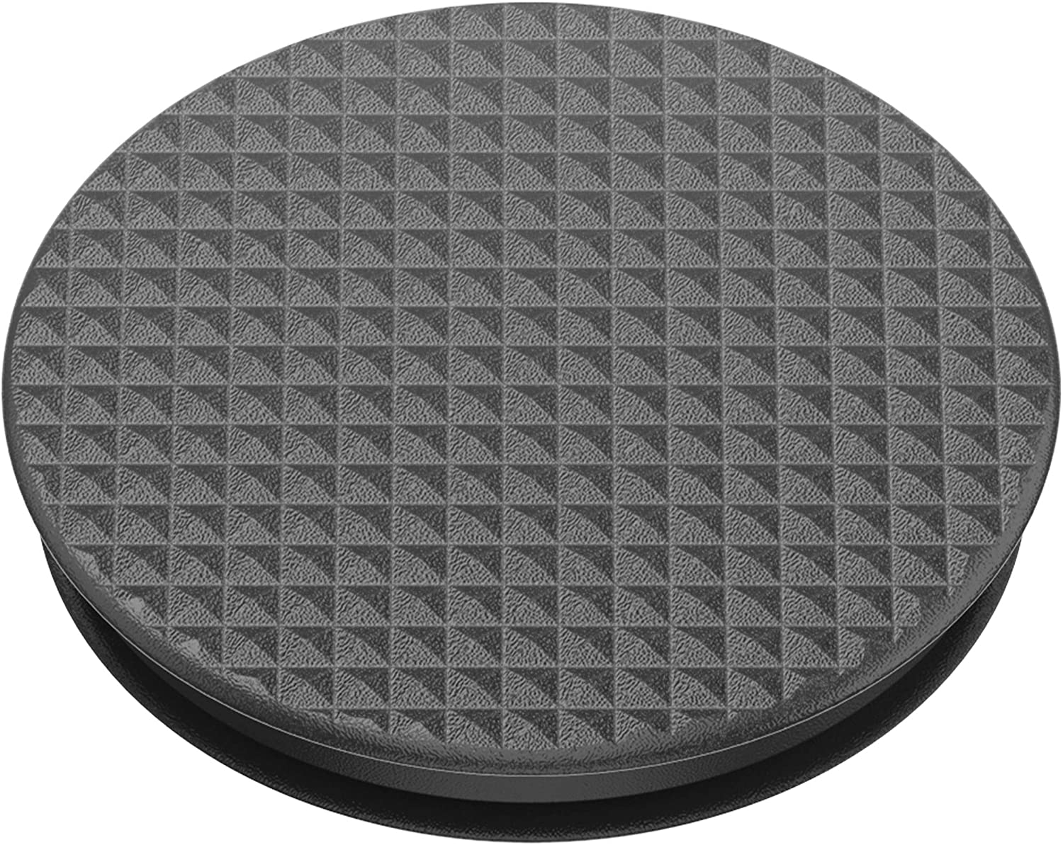 Knurled Texture Black PopGrip with Swappable Top for Phones and Tablets PopSockets