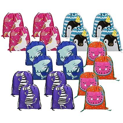 Amazon.com: Bolsas de regalo para niños con cordón, 20 ...
