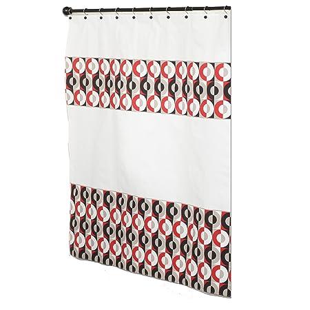 Zenna Home Anthology Circle Decorative Shower Curtain Amazoncouk Kitchen