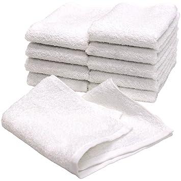 9e30d650f63703 白タオル 業務用 ハンドタオル おしぼり 120匁 10枚セット ホワイト 日本製 泉州