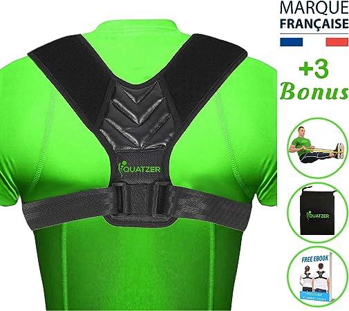 Corrector de postura para espalda Hombre y Mujer - Faja dorsal ajustable para hombros rectos - Sostén de Columna Vertebral, Corrector de cifosis, ...