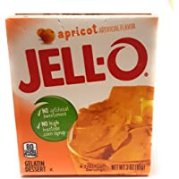 Jell-O Gelatin Dessert, Apricot, 3-ounce Boxes (Pack of 4)