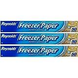 Reynolds Freezer Paper Plastic Coated 50 Sq Ft (3 Rolls)