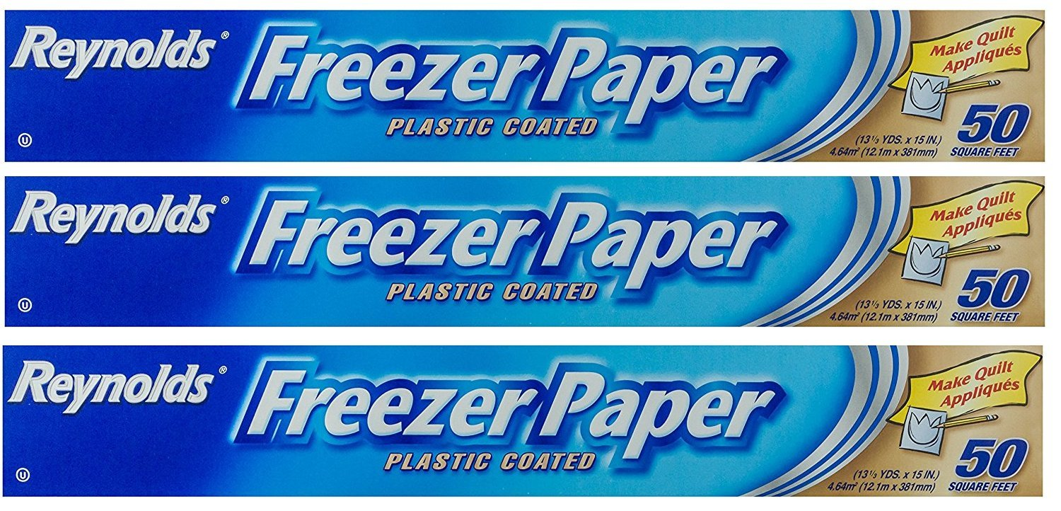 Reynolds Freezer Paper Plastic Coated 50 Sq Ft (3 Rolls)