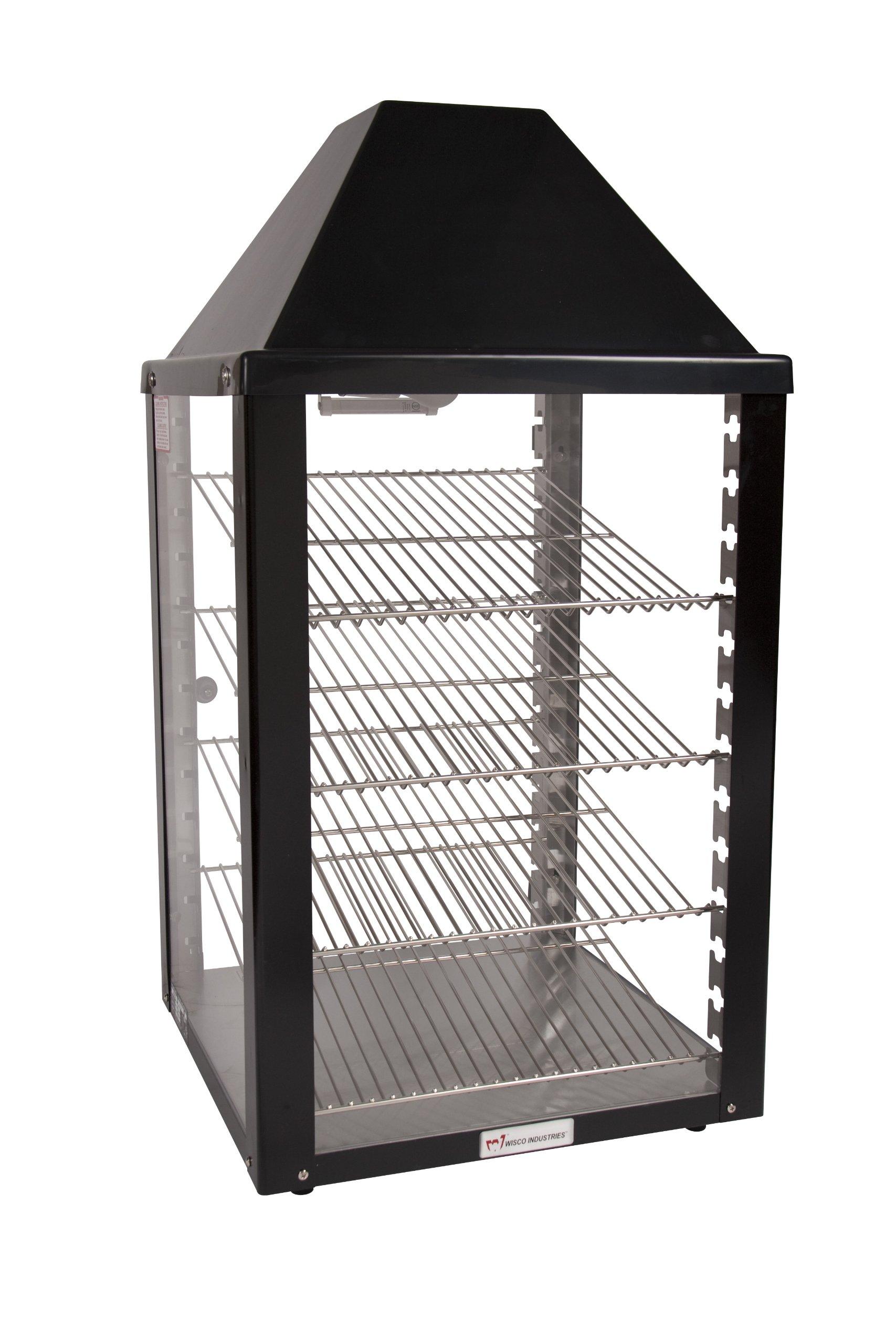 Wisco, 00690-25-2-001-BLK, Food Warming and Merchandising Cabinet, 2 Door Pass Thru, Black