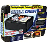 ONTEL Chill Chest Cooler – 60 Cans, Collapsible, Insulated, Lightweight, Portable, Waterproof – Great for Parties, Picnics, Camping, Beach, Tailgating, Fishing, Hunting, Boating and More!