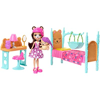 Enchantimals Dreamy Bedroom Playset + Bren Bear Doll & Snore Figure: Toys & Games