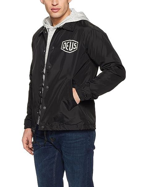 Deus Ex Machina Milano Dirección entrenador chaqueta negro: Amazon.es: Ropa y accesorios