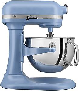 KITCHENAID KP26M1XVB Professional 600 Stand Mixers, 6 quart, Matte Velvet Blue