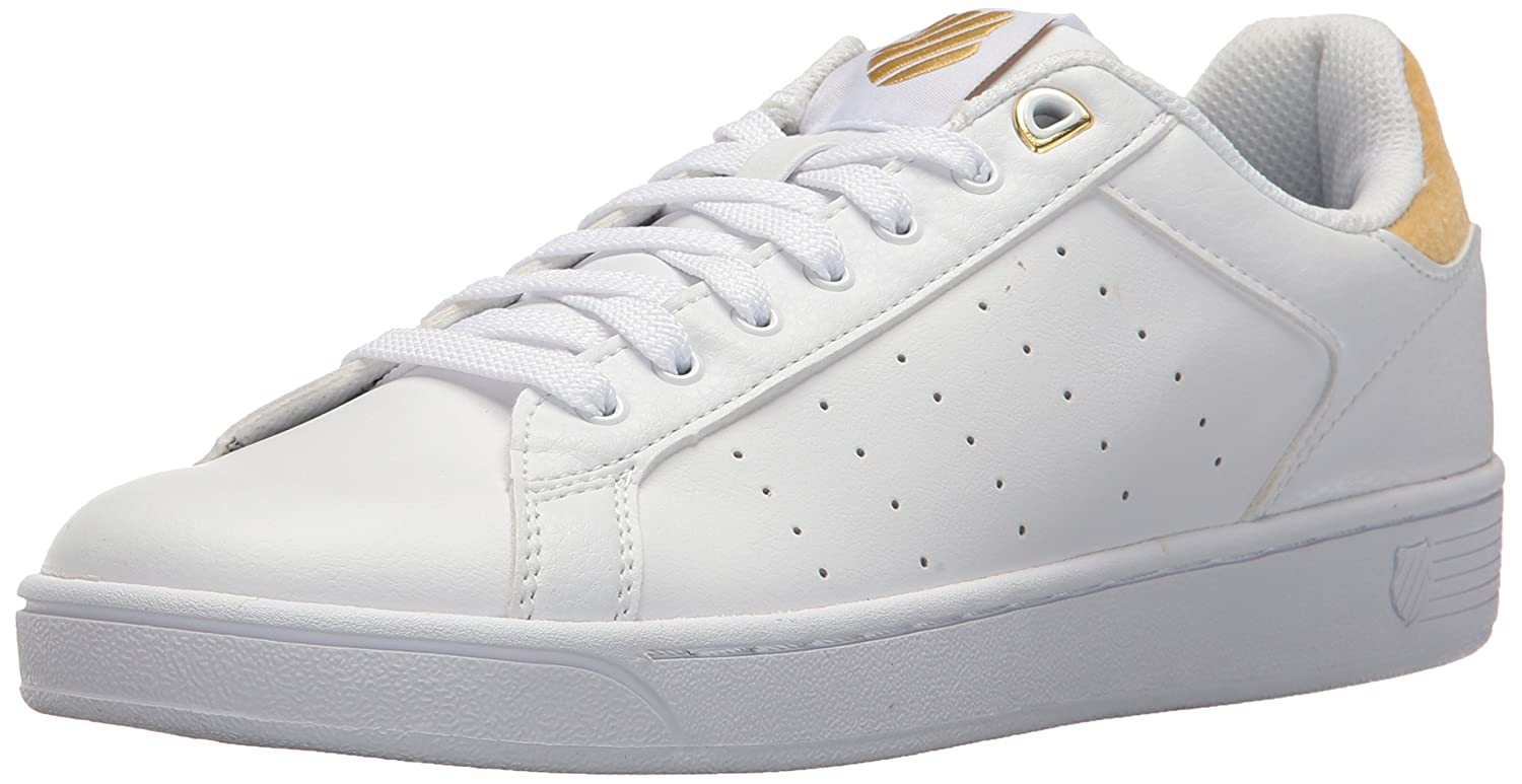 K-Swiss Clean Court CMF, Zapatillas para Mujer 6.5 B(M) US|White/Bright Gold