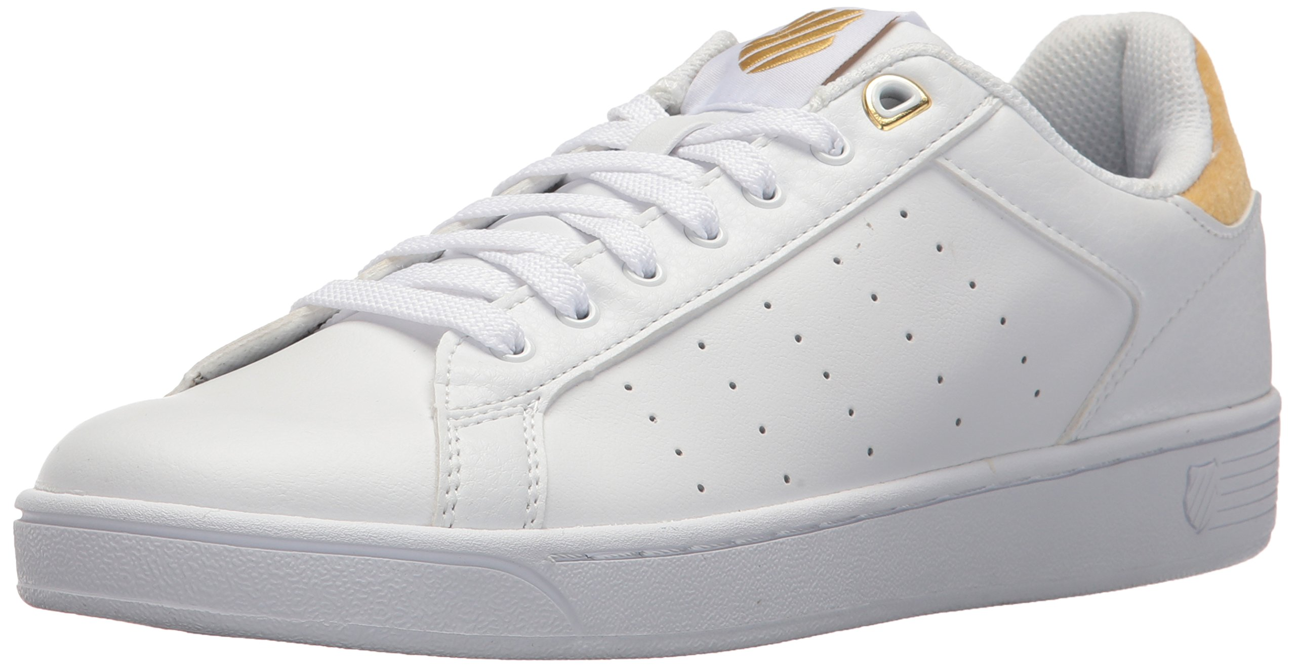 7dbb968c2a5a Galleon - K-Swiss Women s Clean Court CMF Sneaker White Bright Gold 7.5 M US