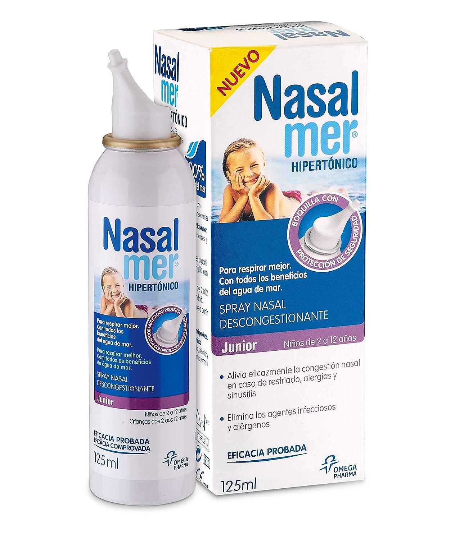 Nasalmer Adultos Spray Congestion Nasal 100 Agua De Mar 125 Ml